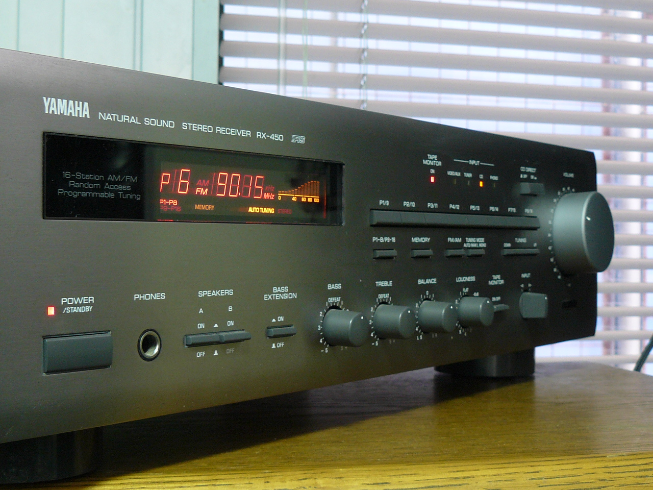 Yamaha rx 450 rs amplifier receiver tuner natural sound ebay for Yamaha amplifier receiver